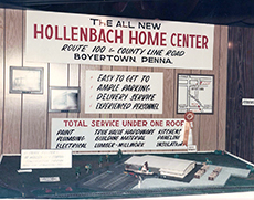 Design display for the new W. Hollenbach Co.